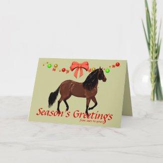 Paso Fino Season's Greetings Christmas Cards