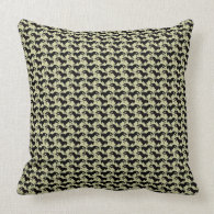 Paso Fino Silhouette Geometric Pillows
