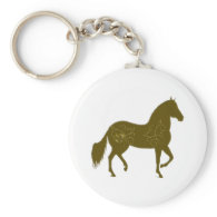 Paso Fino Silhouette Heart Keychains
