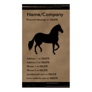Paso Fino Silhouette Personal Business Double-Sided Standard Business Cards (Pack Of 100)