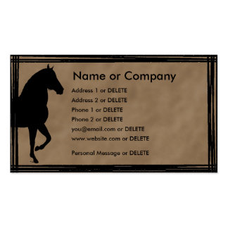 Paso Fino Silhouette Personal Profile Double-Sided Standard Business Cards (Pack Of 100)