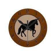 Paso Fino Silhouette Round Wall Clock