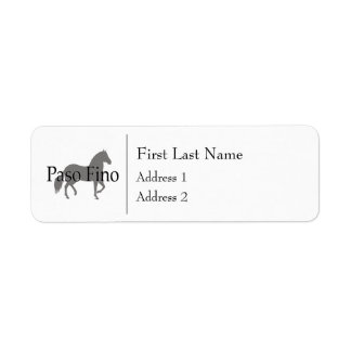 Paso Fino Silhouette Text 1 Label