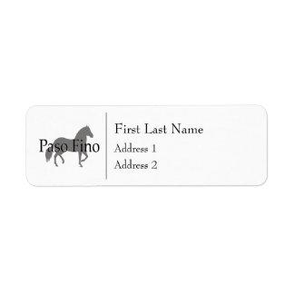 Paso Fino Silhouette Text 1 Label