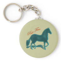 Paso Fino Teal Silhouette Shadow Keychain