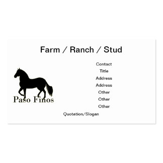 Paso Finos - Personalize It Double-Sided Standard Business Cards (Pack Of 100)