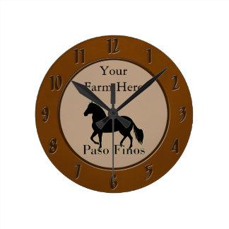 Paso Finos - Personalize It Round Clocks
