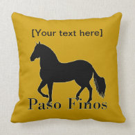Paso Finos - Personalize It Throw Pillow
