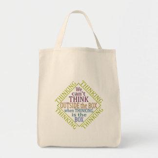 paso fuera del pensamiento… bolsa tela para la compra