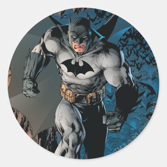 Paso grande de Batman Pegatina Redonda