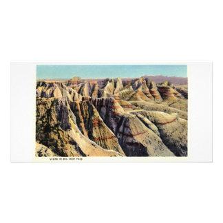 Paso grande del pie, Badlands, Dakota del Sur Tarjetas Fotograficas