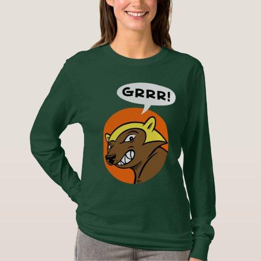 "Paso ""GRRR de los ciervos!"" Camiseta: Naranja Playera"