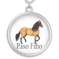 Paso Horse Buckskin Paso Fino Custom Necklace