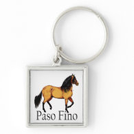 Paso Horse Buckskin Paso Fino Keychains