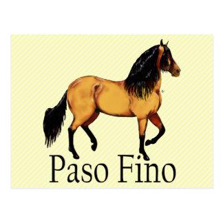 Paso Horse Buckskin Paso Fino Post Card