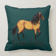 Paso Horse Buckskin Paso Fino Throw Pillow