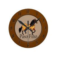 Paso Horse Buckskin Paso Fino Wall Clock