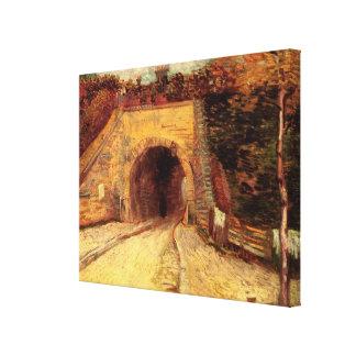 Paso inferior del camino de Van Gogh, el viaducto, Impresión En Lona Estirada