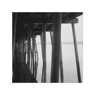 Paso inferior del puente impresion en lona