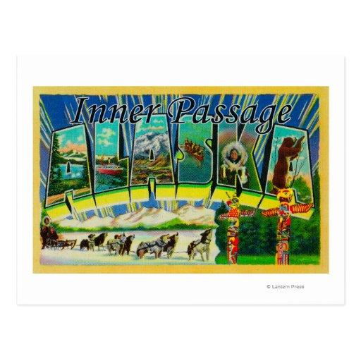 Paso interno, Alaska - escenas grandes de la letra Tarjeta Postal