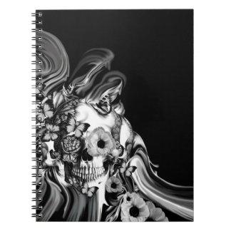Paso lateral, cráneo psicodélico del humo libretas espirales