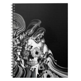 Paso lateral, cráneo psicodélico del humo spiral notebooks