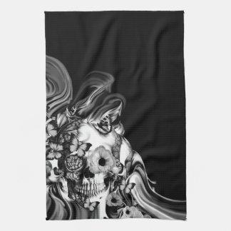 Paso lateral, cráneo psicodélico del humo toallas de mano