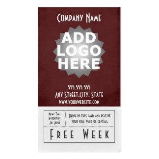 Paso libre mezclado de la semana de la tarjeta de  plantilla de tarjeta personal