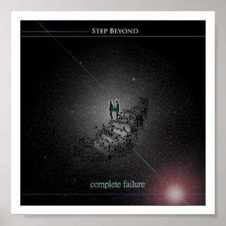 Paso más allá de la cubierta del álbum del fracaso póster