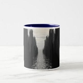 Paso oscuro taza de dos tonos