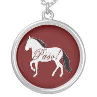 Paso! Paso Fino Silhouette Personalized Necklace