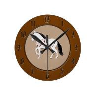 Paso! Paso Fino Silhouette Round Clock