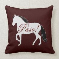 Paso! Paso Fino Silhouette Throw Pillow