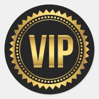 Paso redondo del oro y del fiesta del VIP de los Pegatina Redonda