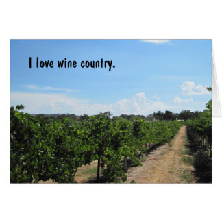 Paso Robles, California, Wine Country Greeting Card
