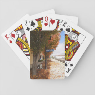 Paso Robles Train Station in Autumn Playing Cards