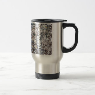 Paso solemne (expresionismo abstracto) taza térmica