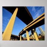 Paso superior de la autopista sin peaje en Dallas Poster