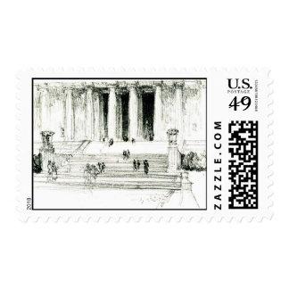 Pasos 1922 del Lincoln memorial Sello