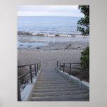 pasos a la playa poster
