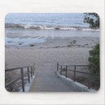 pasos a la playa tapete de raton