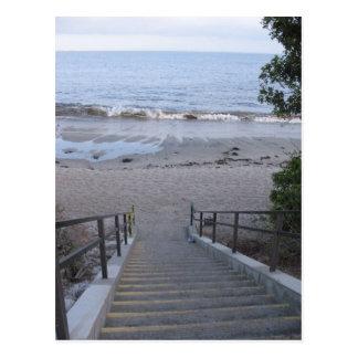 pasos a la playa postales