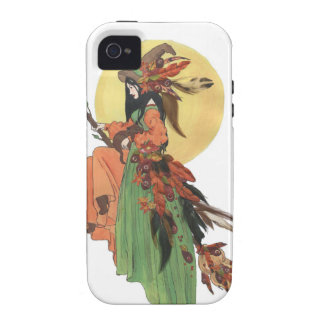 Pasos de la bruja de Halloween con el claro de iPhone 4 Carcasa