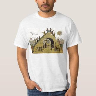 Pasos de la camiseta de la albañilería camisas