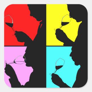 Pasos de la degustación de vinos del pegatina en