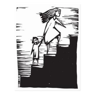 Pasos de la escalera tarjetas postales