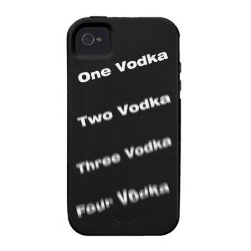Pasos de la vodka iPhone 4/4S carcasa