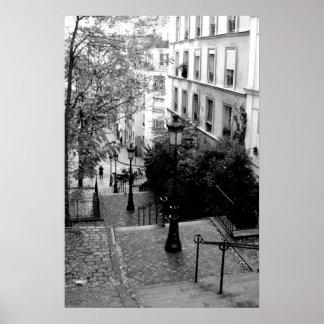 Pasos de Montmartre Póster