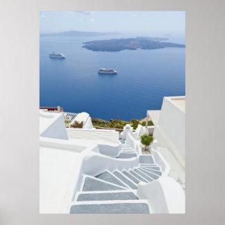 Pasos de Santorini Poster