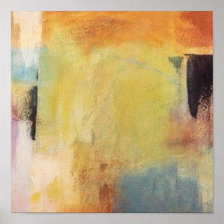 Pasos del color - pintura abstracta poster